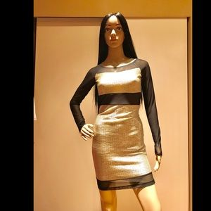 Silver/black dress